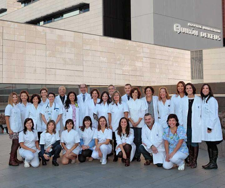 Part de l'equip mèdic.
